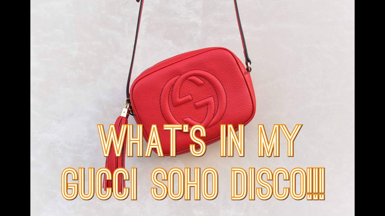e9bf90f034b03e WHAT'S IN MY BAG - Gucci Soho Disco!! - YouTube