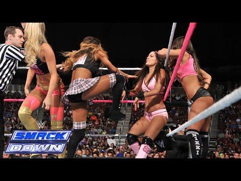 Brie Bella, Naomi & Natalya vs. Nikki Bella, Cameron, & Summer Rae: SmackDown, Oct. 24, 2014