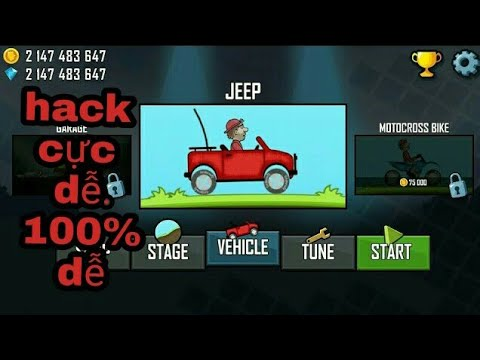 Cách hack game hill clim racing . 100% được
