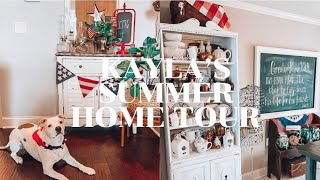 KAYLA FRIDAY'S HOME TOUR | PATRIOTIC DECOR 2020