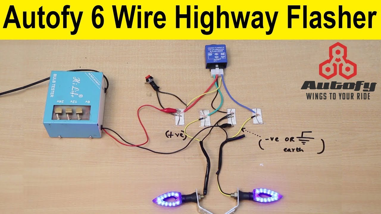 Autofy 6 Wire Highway Flasher For Royal Enfield And All Bikes Electrical Installation Full Page Guide Product Review