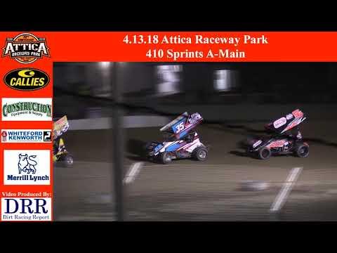 4.13.18 Attica Raceway Park 410 Sprints A-Main