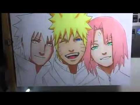 Dibujo de naruto sasuke y sakura  YouTube