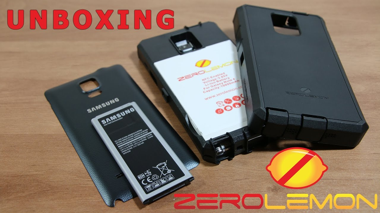 super popular f3000 44bea Unboxing ZeroLemon 10000mah Extended Battery Case for Samsung Galaxy Note 4