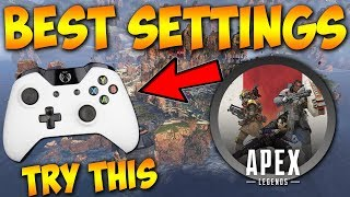 BEST CONSOLE SETTINGS In Apex Legends! Pro Player Settings On Controller PS4/Xbox One