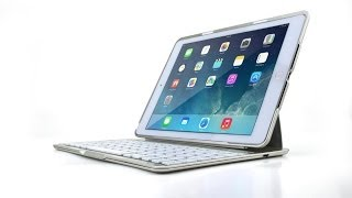 best ipad air 2 in 1 case wireless bluetooth keyboard with backlight demonstration