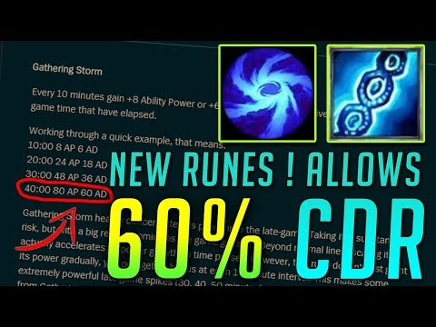 NEW RUNES ALLOW 60% CDR + FREE DEATHCAP LATE GAME ? | League of Legends