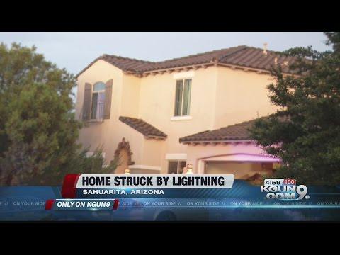Lightning ignites fire in Sahuarita home