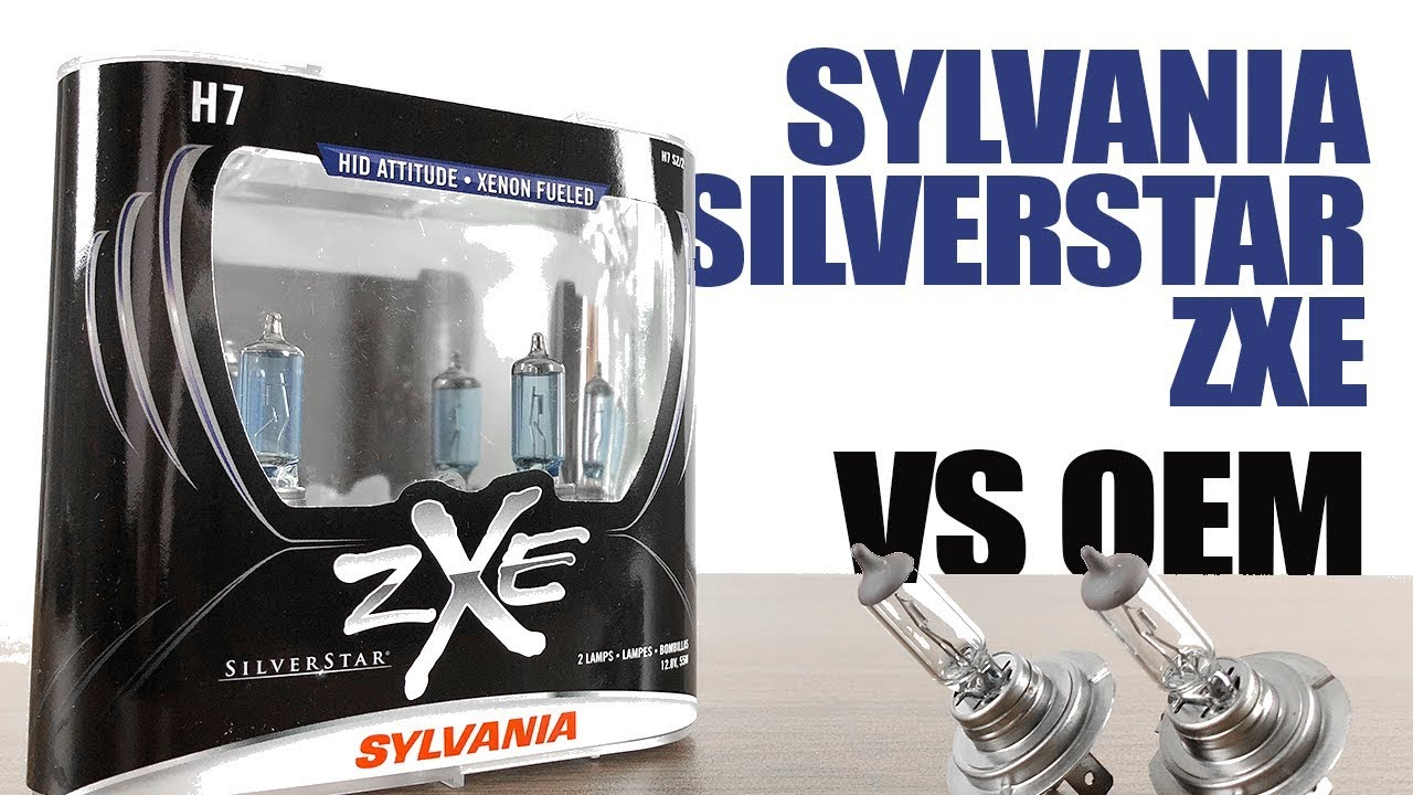 Sylvania Silverstar zXe vs OEM / Original Headlight Bulbs Comparison