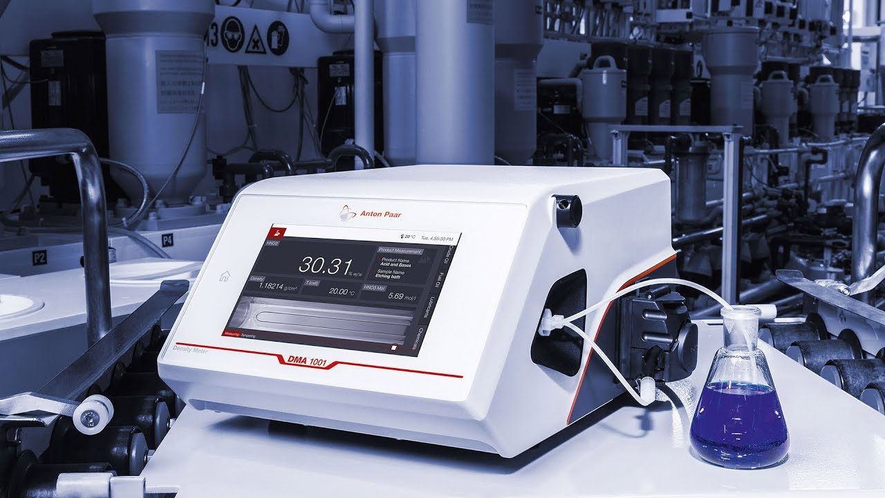 DMA 1001. A density meter which meets industry lab standards at an unmatched price.