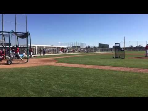 Red Sox lefty Chris Sale throws live BP