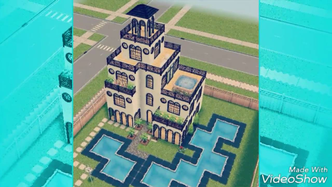 The sims freeplay construindo uma casa moderna simples for Casa de diseno sims freeplay