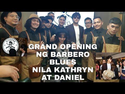 BAGONG NEGOSYO NILA KATHRYN AT DANIEL PADILLA+PINAGKAGULUHAN SA GRAND OPENING NG BARBERO BLUES