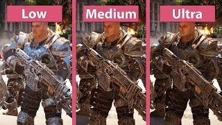Gears of War 4 – PC Low vs. Medium vs. Ultra Graphics Comparison