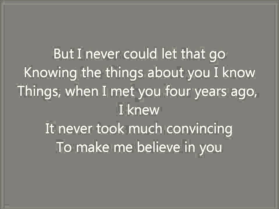 Lyric i believe in you lyrics : If I Didn't Believe In You Karaoke / Instrumental The Last 5 Years ...