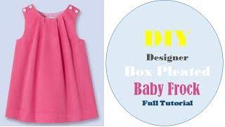 DIY Designer  BoxPleated Baby Frock for 1 year girl full tutorial