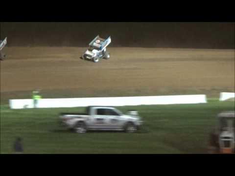 AJ Flick 410 Sprint Lernerville Speedway April 21, 2017