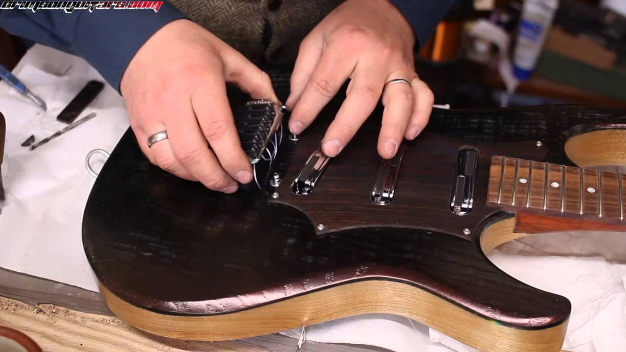 Lace Alumitone Pickups Part 2 Building The Guitar And Testing Them Pickup Wiring Youtube