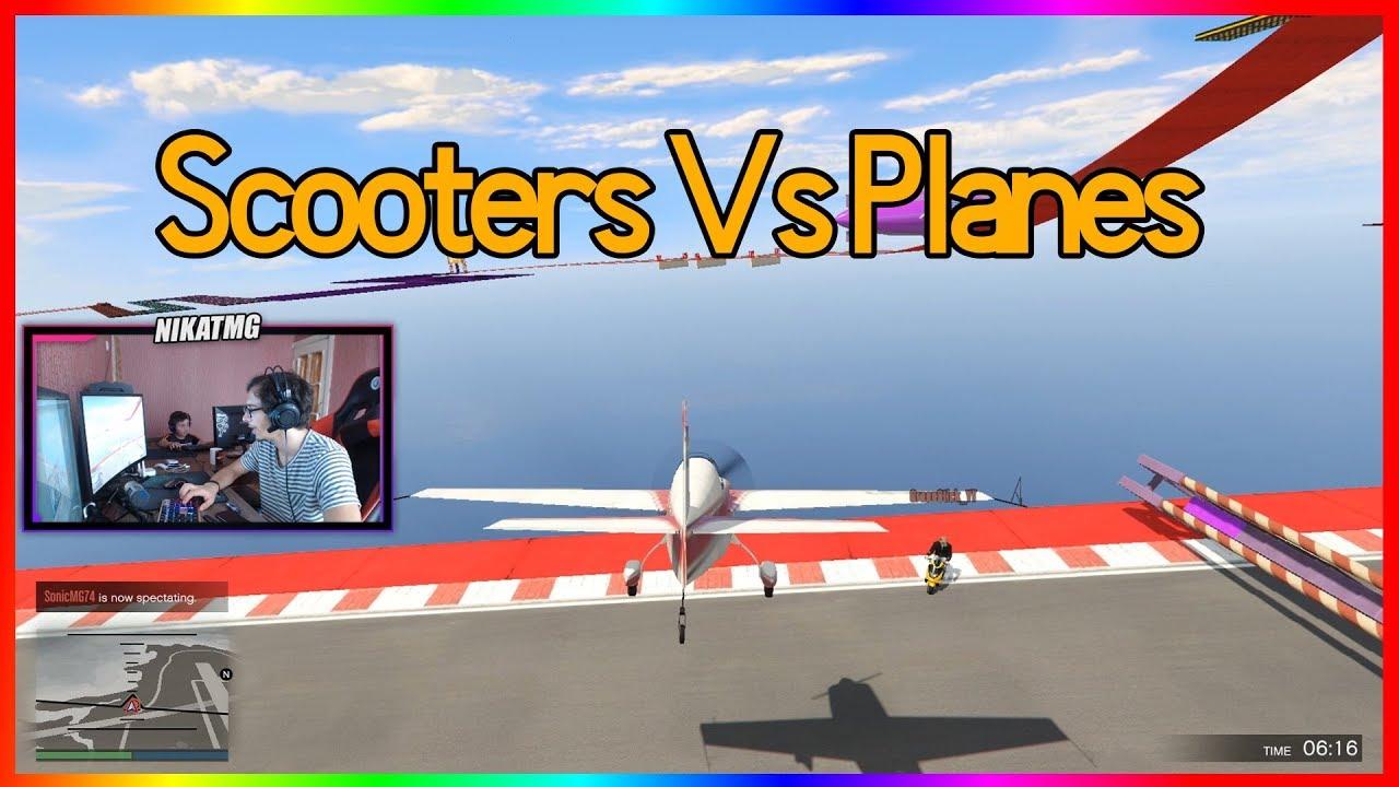 დათუნასთან ერთად Scooter vs Planes   GTA V Online ქართულად