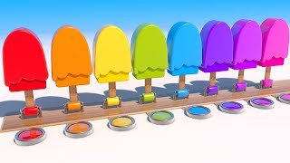 Learning Shapes with 3D Popsicle. Educational video for Kids and Children