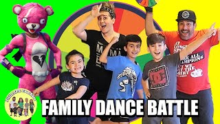 NEW MYSTERY WHEEL OF FORTNITE DANCES CHALLENGE in REAL LIFE | PHILLIPS FamBam
