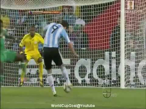 Argentina 1-0 Nigeria - World Cup 2010 Highlights