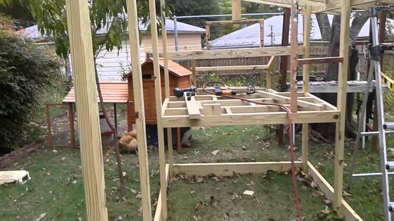 2 gallinero casero para el jardin youtube for Gallinero jardin