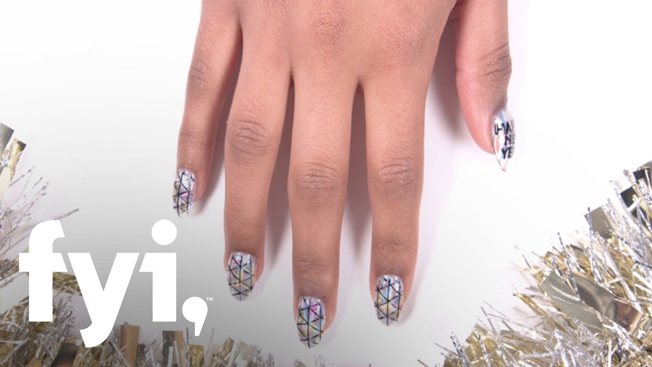 Holiday Nail Art Tutorial: New Year's Eve Ball Drop | FYI ...