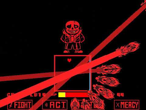 Битва с Underfell Сансом (Геноцид) (Старая версия (by McatR))