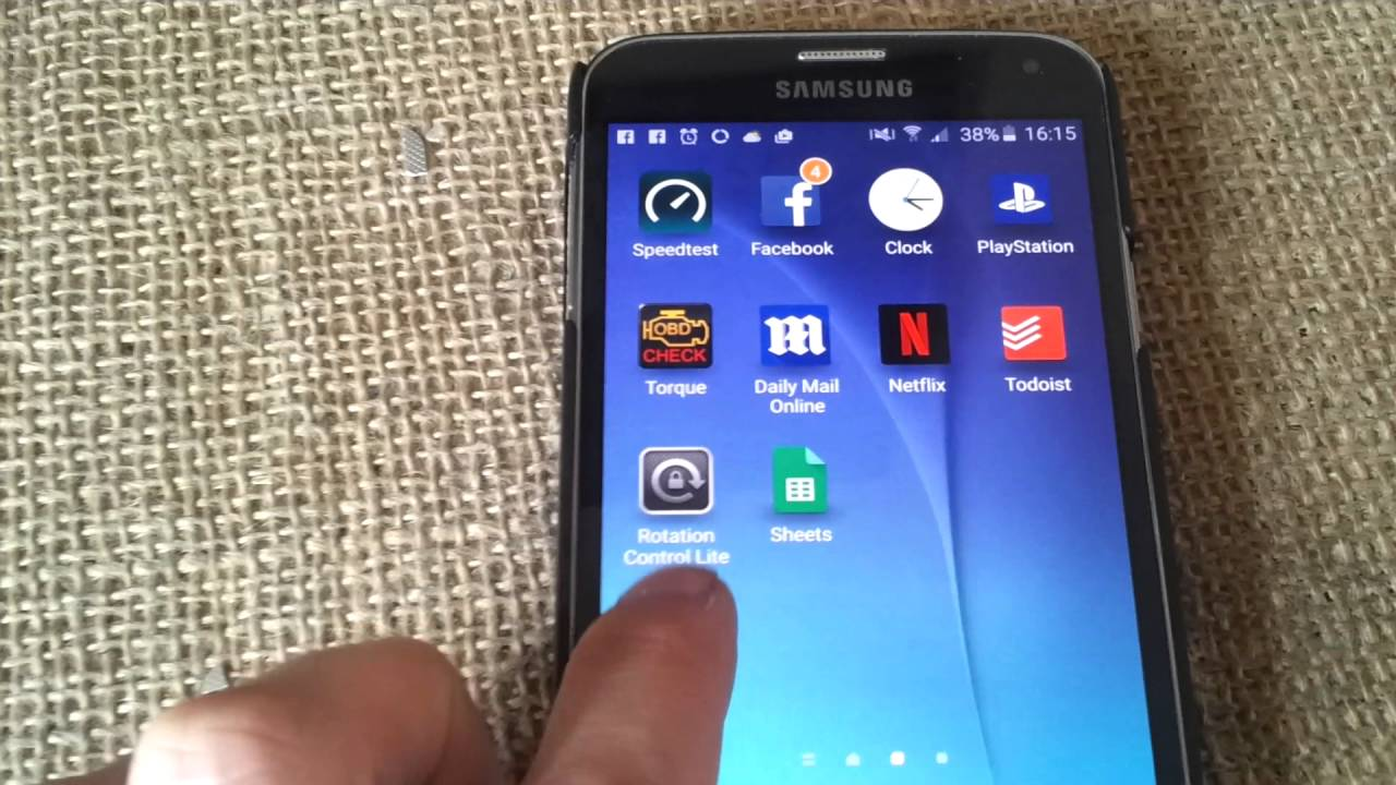 Samsung Phone screen rotation fault investigation & fix - try this if other  methods fail