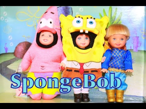 AllToyCollector BARBIE SpongeBob Squarepants & Patrick Frozen Toby Tommy Kelly Doll Toy Review