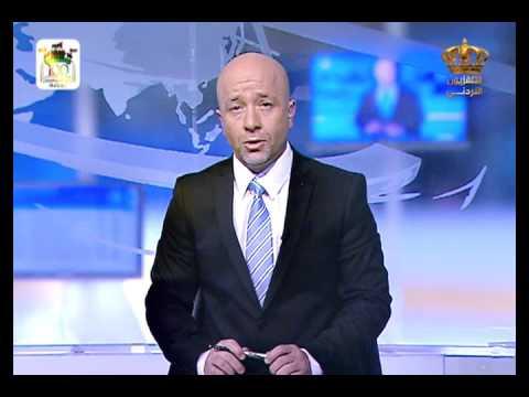 English News at ten in Jordan Television 25-02-2016