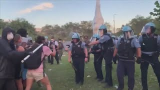 COPA investigating alleged misconduct after police, protesters clash in Grant Park