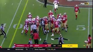 Antoine Bethea late hit on CJ Beathard + Carlos Hyde gets destroyed by Frostee Rucker