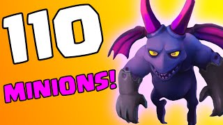Clash of Clans [HOW TO USE MINIONS: CALLING ALL UNITS SERIES! 110 MINION ATTACK RAIDS IN COC!]