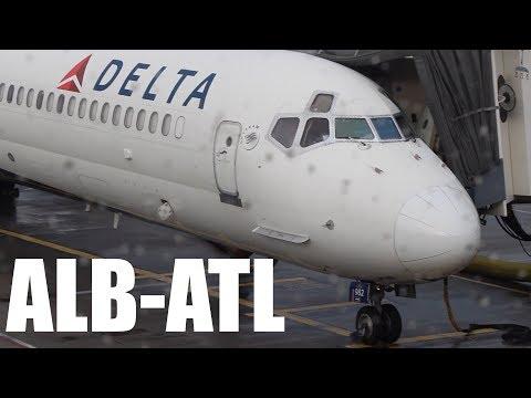 TRIP REPORT: Albany to Atlanta Delta MD-88  *NEW YEARS FLIGHT* l Economy class l N936DL