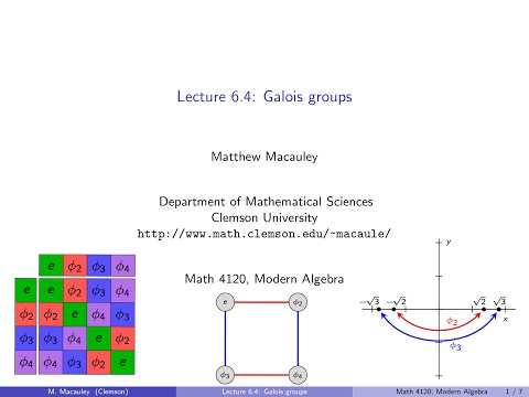 Visual Group Theory, Lecture 6.4: Galois groups