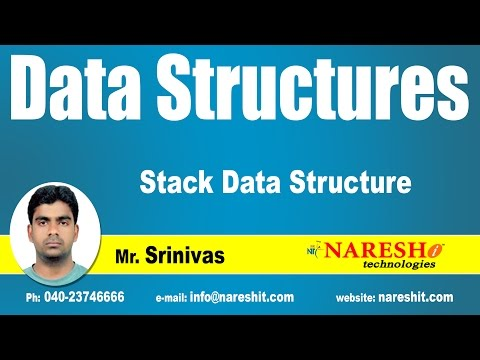 Stack in Data Structure | Data Structure Tutorial | Mr. Srinivas
