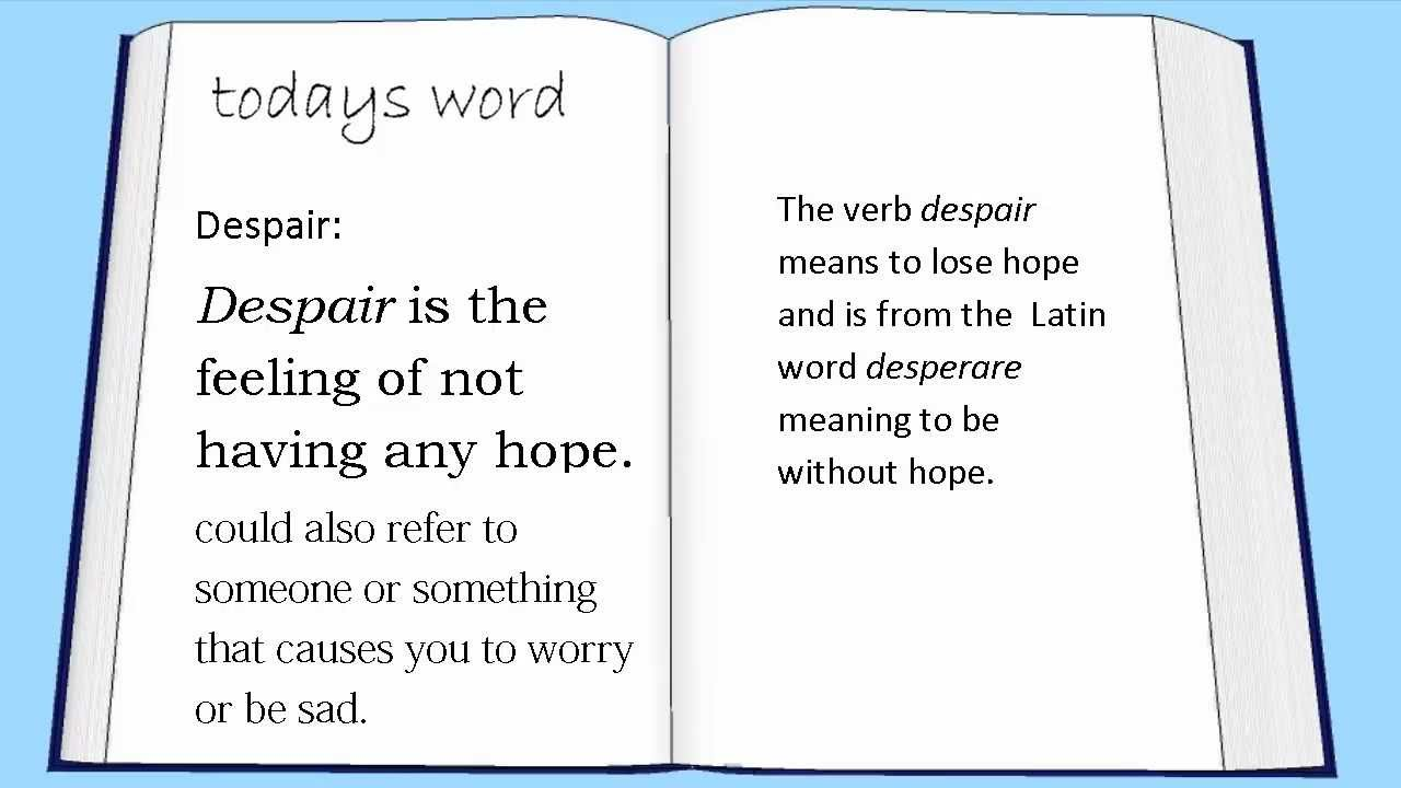 Despair is ... Despair: the definition of 13