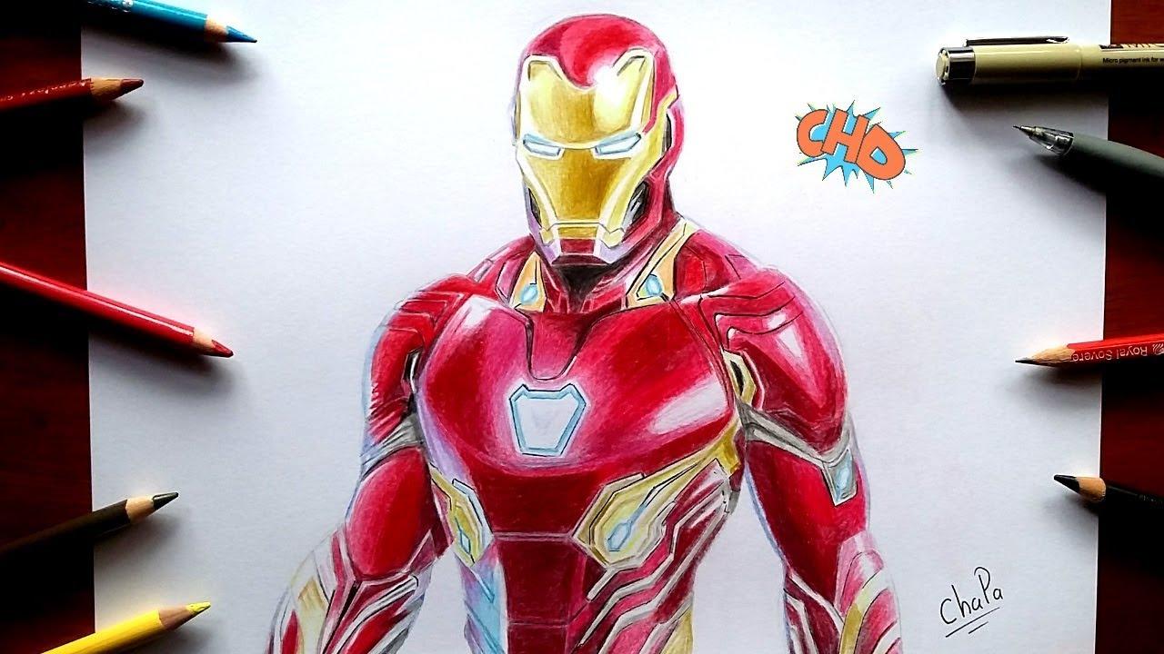 Como Dibujo A Iron Man Quot Avengers Infinity War Quot Drawing