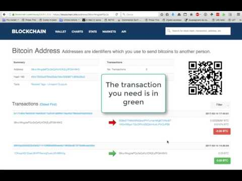 How To Find A Transaction ID, Or Hash, Of A Bitcoin Transaction