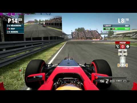 F1 2012 Codemaster Montreal Career Race Fail Q+R