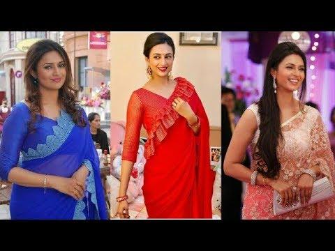 0c8b0a8521d5ce Ishita Aka Divyanka Tripathi(YHM)saree blouse design ideas/saree ...