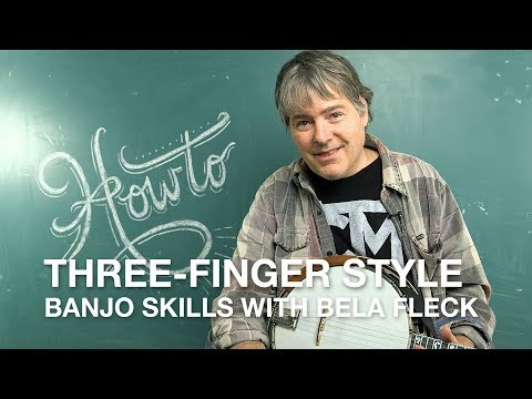 Bela Fleck teaches us his 'three-finger' style banjo technique