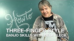 Bela Fleck teaches us his 'three-finger' style banjo technique