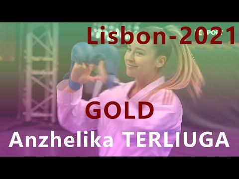 Karate 1. Premier League. Lisbon 2021. Anzhelika Terliuga - Yassmin Attia. Female kumite -55kg
