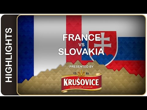 Ciger's team on a roll - France-Slovakia HL - #IIHFWorlds 2016 - 동영상