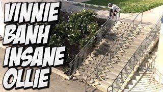 VINNIE BANH BIGGEST OLLIE SO FAR !!! - A DAY WITH NKA -
