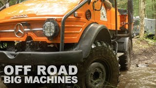 Mercedes Unimog Off Road With A Toyota & 7 Land Rovers