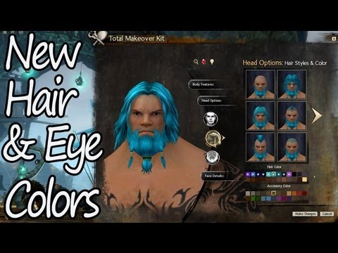 Guild Wars 2 New Character Hair Eye Colors Youtube